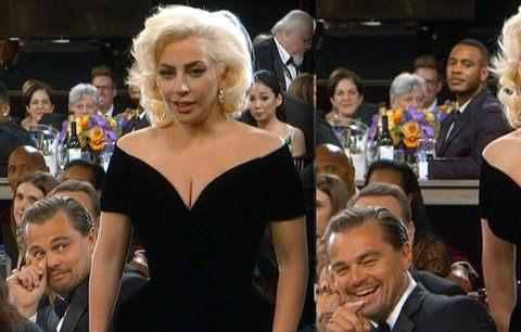 DiCaprio se vysmál Lady Gaga, ta do něj vrazila! Jeho výraz? Ten je konečně na Oscara!