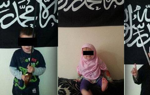 Fanatik nafotil šestiletého syna jako teroristu! Dcerku navlékl do hidžábu
