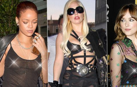 Když je černá málo černá: Celebrity, které zradila nečekaně průsvitná látka!
