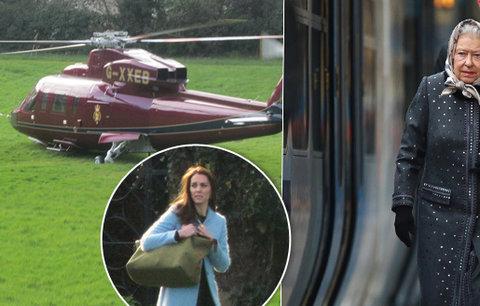Vévodkyně Kate mrhá penězi Britů! Objednala si vrtulník za sto tisíc, královna přitom jela vlakem