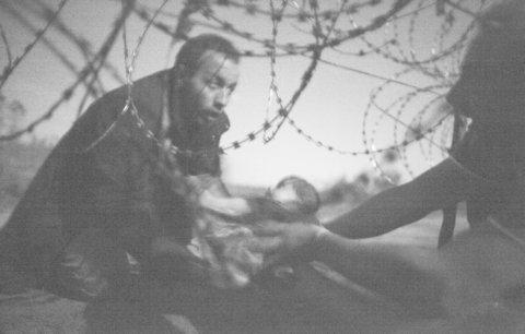 Vítězné World Press Photo: Migranti si předávají kojence skrz ostnaté dráty