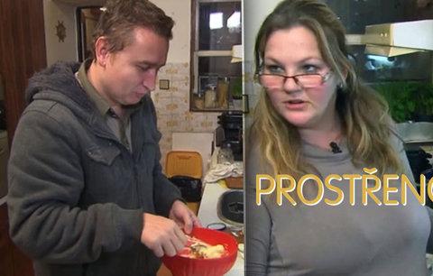 Akční David v Prostřeno: Pomůže Erice uvařit večeři