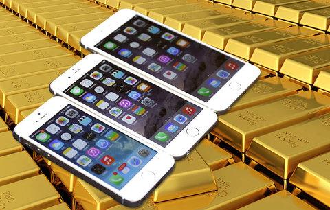 Apple získal ze starých a rozbitých iPhonů tunu zlata. Téměř za miliardu korun