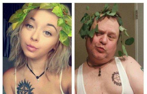 Hit internetu! Otec perfektně imituje selfie své náctileté dcery