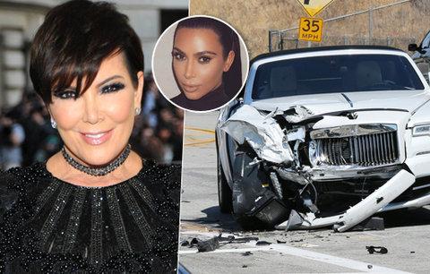 Matka Kim Kardashian měla vážnou nehodu: Zbořila zbrusu nový rolls-royce za 6 mega!