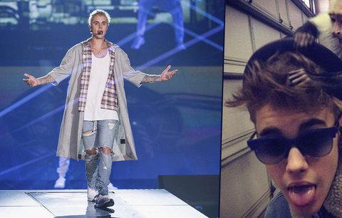 Justin se na fanoušky od rána těšil: Češtinu si hned zamiloval