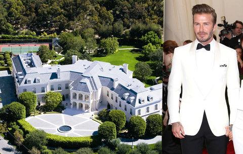 Beckham pro rodinu kupuje nejdražší barák Ameriky! 127 pokojů za 5 miliard! Podívejte se, jak to vypadá uvnitř