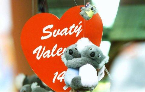 Češi na Valentýna nakupují dárky za 250 korun. A kde hýčkají ženy své muže?