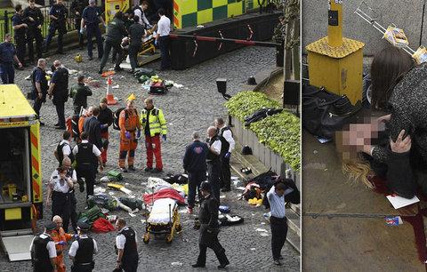 Útok v Londýně: Muž najel autem do lidí. Nejméně 4 zabil, pak ubodal policistu