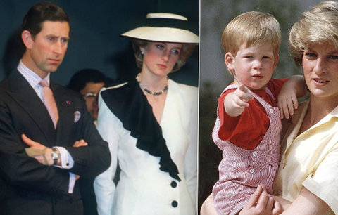 Princezna Diana dohnala Charlese k psychiatrům: Pokusila se i o sebevraždu