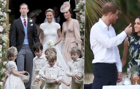 Manévry na svatbě Pippy: Přítelkyně Harryho Meghan dorazila až na hostinu! Přivezl ji sám princ