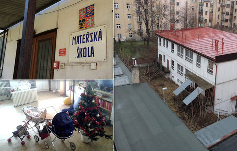V opuštěné školce jsou už 10 let Vánoce: Po dětech v Holešovicích zůstalo i oblečení