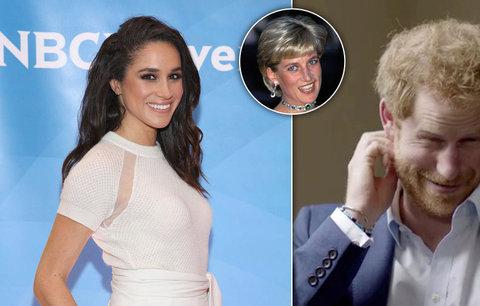 Princ Harry se bude ženit? Meghan dostane prstýnek vyrobený z náramku Diany!