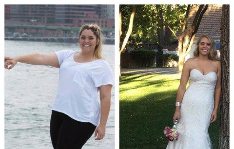 Chtěla být tou nejkrásnější nevěstou, za dva roky zhubla o víc než 50 kg