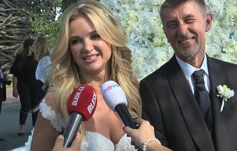 První rozhovor novomanželů Babišových: Andrej si vynutil francouzský polibek!