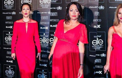 Rudá záře na Elite Model Look: Stivínová v luxusní róbě, Agáta ze sekáče