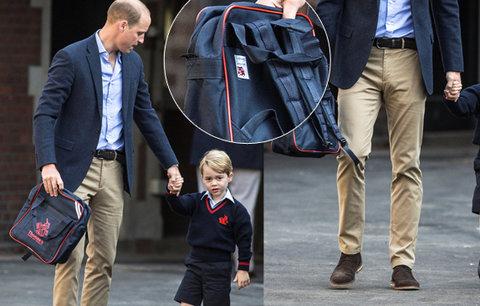 Aktovka do školky odhalila pravé příjmení malého prince George! Co na ní stálo?