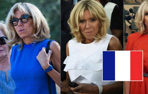 Macronová oslnila v barvách trikolóry. Její muž řešil krizi EU i dluhy Řecka