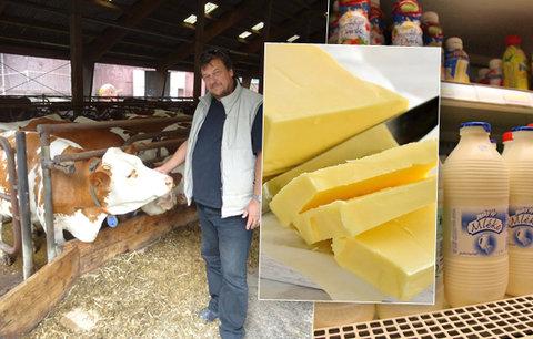 Zemědělci zuří kvůli drahému máslu: Odírají nás všechny, známe viníky