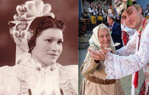 To je babča! V 97 letech Růžena ze Slovácka tančí, zpívá a  celý den pracuje