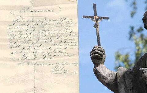 Překvapení v Blatnici: Svatý František hlídal 90 let tajný dopis v lahvi