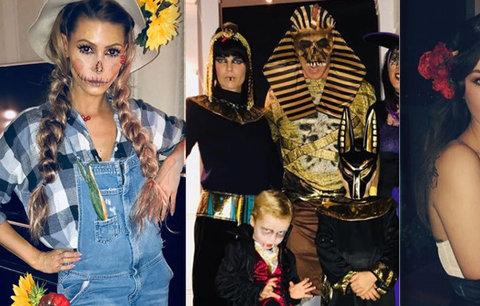 Halloween slavných: Vražedkyně Belohorcová, Herzigová jako Kleopatra po smrti