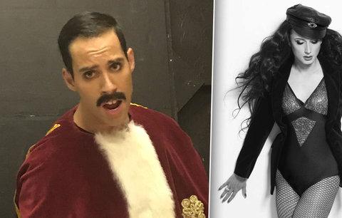Dva čeští herci se proměnili v Mercuryho a Cher. Poznáte, kdo je kdo?