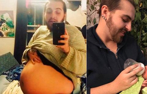 Těhotný muž podruhé porodil: Dítě chce vychovávat jako »genderově neutrální«