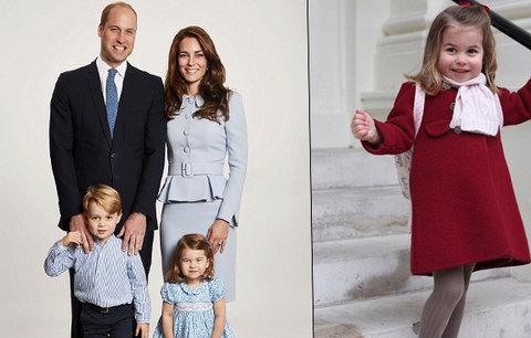 Ta už vyrostla! Princezna Charlotte (2) šla poprvé do školky