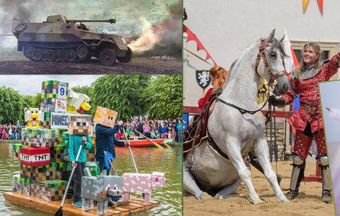 Tipy na víkend: Vojenská Bahna, největší rodinný festival i Stříbření v Kutné Hoře