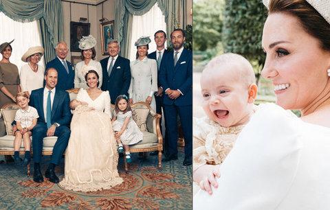 Šťastná Kate a rozpustilá Charlotte! Co odhalily oficiální fotografie ze křtu prince Louise?