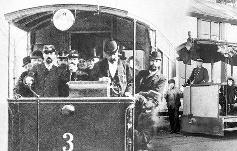 Před 127 lety vyjela v Praze první elektrická tramvaj: Na Letné splašila zapřažené koně