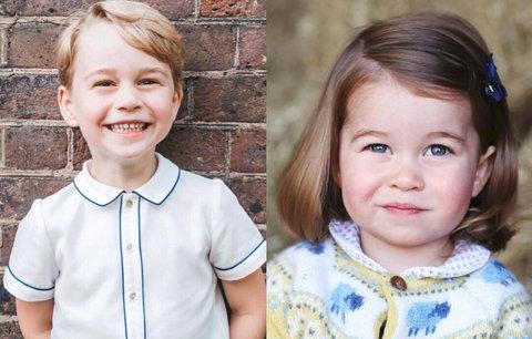 Rozdíly mezi oficiálními fotkami George a Charlotte: Na princezně se šetří