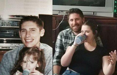 Přefotili své staré fotografie z dětství: Výsledek pobaví i vás!