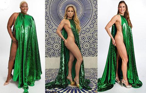 Hit internetu: Obyčejné ženy si oblékly sexy šaty Jennifer Lopez