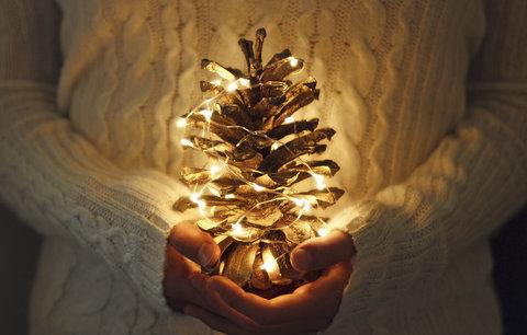 Vánoční dekorace ze šišek: Vyrobte si adventní věnec i svícen na stůl