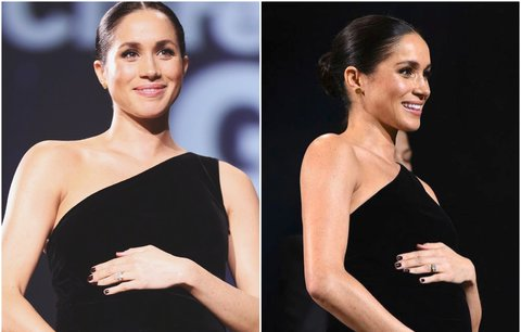 Čeká Meghan dvojčata? Vévodkyně překvapila velkým bříškem