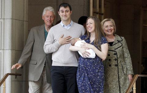 Ke Clintonovým přiletí čáp. Dcera Chelsea (38) oznámila třetí těhotenství