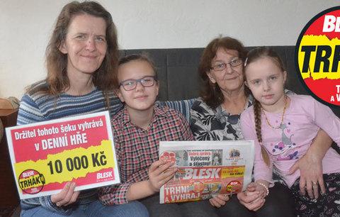 Další velká výhra ve hře Blesku Trhák: 10 tisíc bylo dámskou záležitostí!