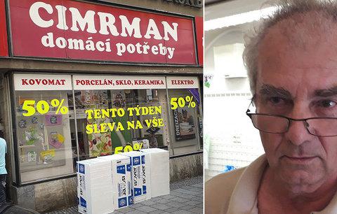 Definitivní konec Cimrmanů v Brně: Legendární železářství zavírá po 27 letech, šéf jde do penze