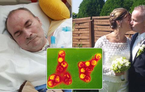 Jára (43) po encefalitidě ochrnul a nemůže mluvit. Je těžké sehnat pomoc, zoufá si jeho žena