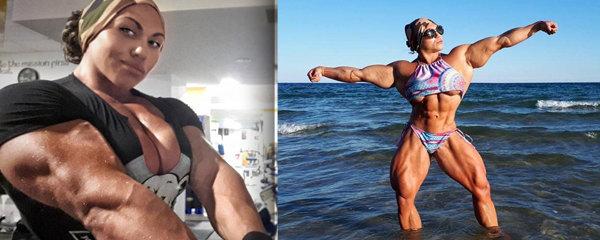 Arnold v sukni: Ruská kulturistka má obvod bicepsu 48 cm