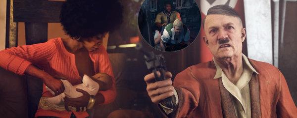Zvracející Hitler, kojení i sex nacistky a černocha - Recenze pecky Wolfenstein II: The New Colossus