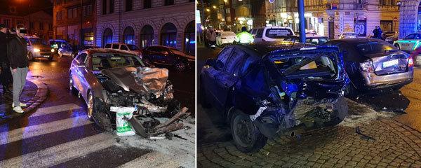 Opilý cizinec v luxusní káře: V centru Prahy naboural několik aut