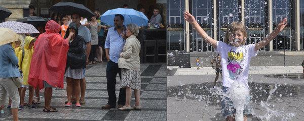 Vytrvalý déšť i polojasná obloha. Středeční počasí rozdělí Česko