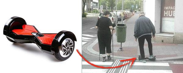 Ostravané umí žít: Babička na procházce o holích, děda na hoverboardu!