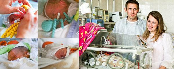 Radostná událost v motolské nemocnici! Narodila se tu čtyřčata: Anežka, Monika, Klára a Ondřej