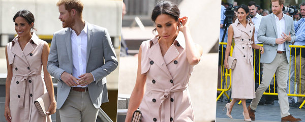 """Vévodkyně Meghan překvapila v """"baloňáku bez rukávů""""! Dali byste za tyhle šaty 18 tisíc?"""