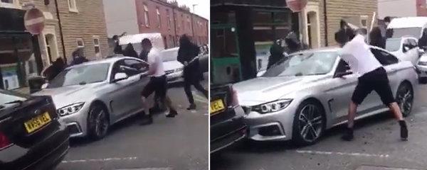 Šokující záběry útoku na BMW: Seděl v něm i pětiletý chlapeček!