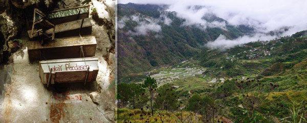 Morbidní zvyk na Filipínách: Rakve visící ve vzduchu!